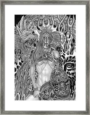Warrior Princess Framed Print by Michael Reymann