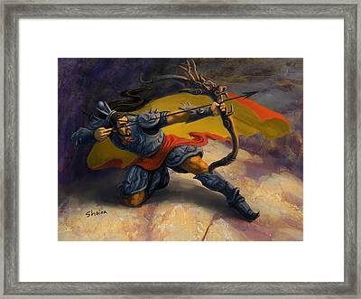 Warrior Framed Print by Shaina  Lee