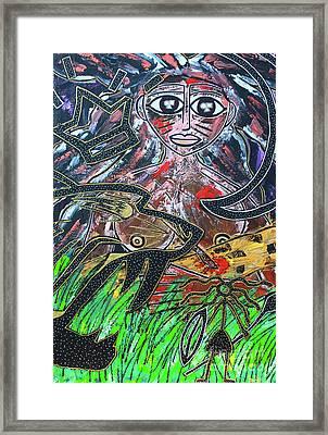 Warrior Spirit Woman Framed Print