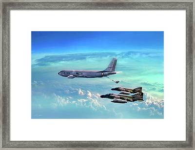 Warrior Teamwork Framed Print by Peter Chilelli