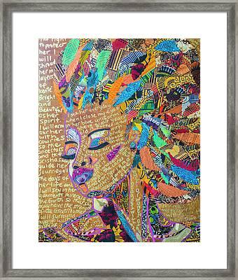 Warrior Woman Framed Print