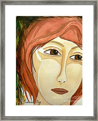 Warrior Woman - No Apologies Framed Print by Jean Fry
