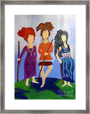 Warrior Woman Sisterhood Framed Print by Jean Fry