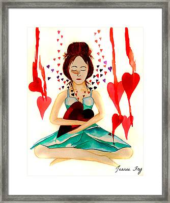 Warrior Woman - Tend To Your Heart Framed Print