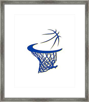 Warriors Basketball Hoop Framed Print