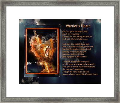 Warrior's Heart Poetry Framed Print