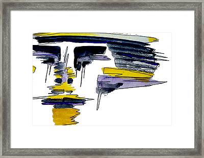 Warriors Mask Framed Print by Adrienne Talbot