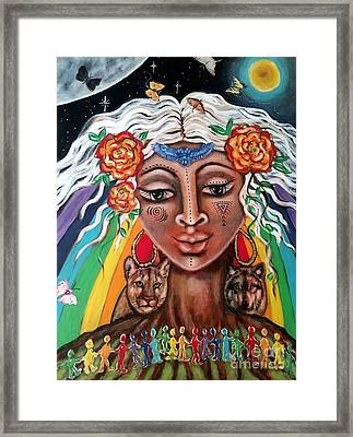 Warriors Of The Rainbow Framed Print by Maya Telford
