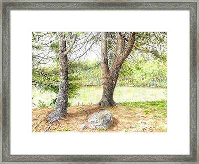 Framed Print featuring the drawing Warriors Path St Park by Mike Ivey