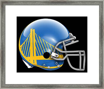 Warriors What If Its Football Framed Print by Joe Hamilton