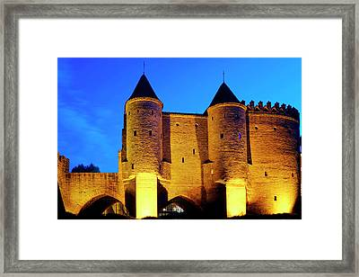 Framed Print featuring the photograph Warsaw Barbican by Fabrizio Troiani