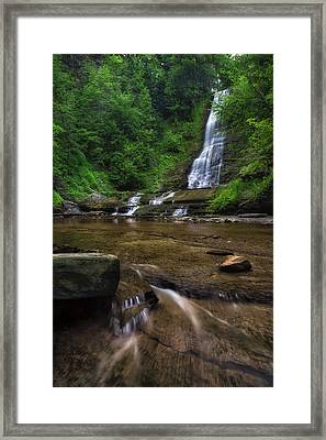 Framed Print featuring the photograph Warsaw Falls 2 by Mark Papke