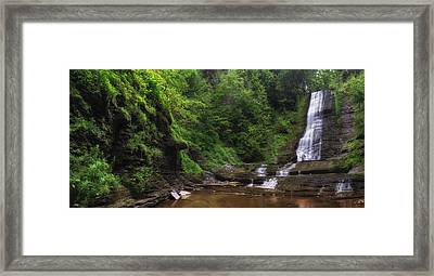 Framed Print featuring the photograph Warsaw Falls by Mark Papke