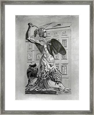 Warsaw Marmoid Framed Print