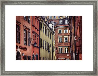 Warsaw Old Town Charm Framed Print by Carol Japp