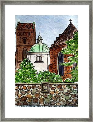 Warsaw Poland Framed Print by Irina Sztukowski
