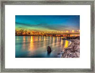 Warsaw Reflected By Vistula River Framed Print
