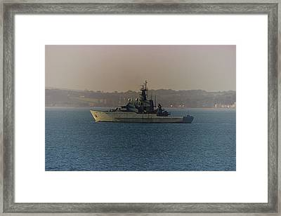 Warship Framed Print by Martin Newman