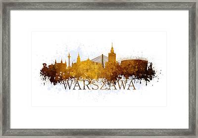 Warszawa Poland Framed Print by Jaroslaw Blaminsky