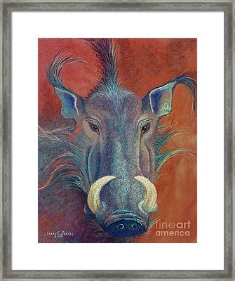 Warthog Defiance Framed Print by Tracy L Teeter
