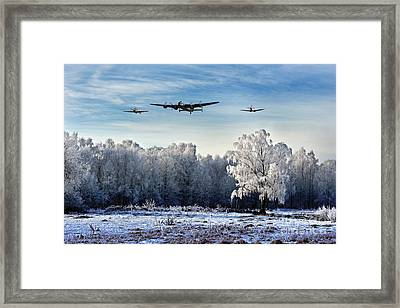 Wartime Winter Framed Print by J Biggadike