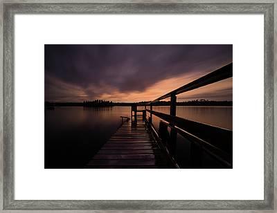 Wartman Lake Dock After Rain Framed Print