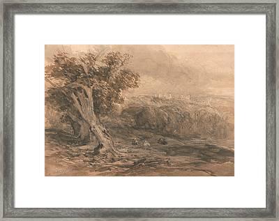 Warwick Castle Framed Print by David Cox