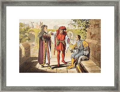 Warwick Speaks In King Henry Vi Act II Framed Print