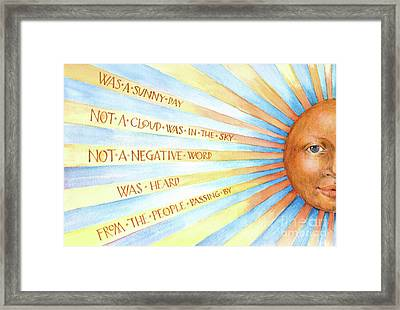 Framed Print featuring the painting Was A Sunny Day by Lora Serra