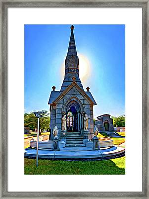 Was On Avenues Am - Paint Framed Print