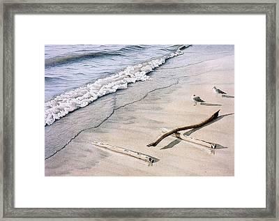 Wasaga Beach Surf Framed Print by Conrad Mieschke