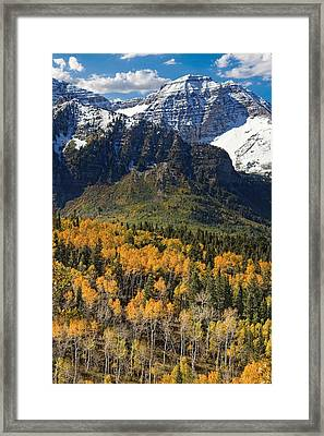 Wasatch Mountains Autumn Framed Print