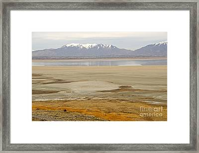 Wasatch Mountains From Antelope Island Framed Print