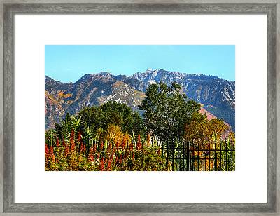 Wasatch Mountains In Autumn Framed Print by Tracie Kaska
