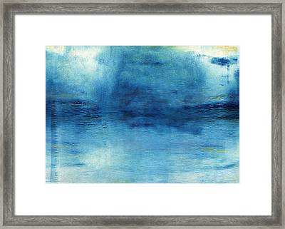 Wash Away- Abstract Art By Linda Woods Framed Print