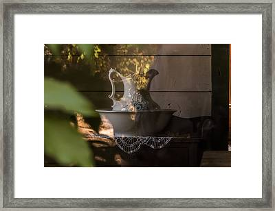 Wash Basin Framed Print by Jay Stockhaus