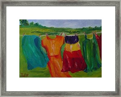 Wash Dance Framed Print by Irit Bourla