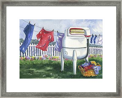 Wash Day Blues Framed Print by Marsha Elliott