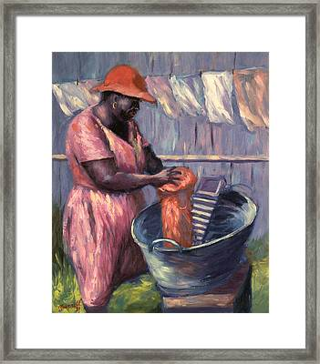 Wash Day Framed Print by Carlton Murrell