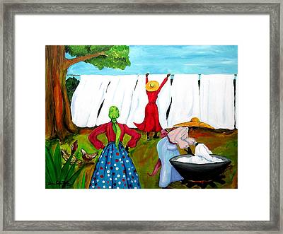 Wash Day Framed Print