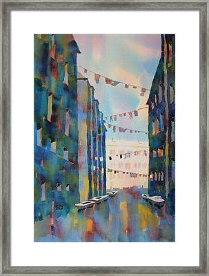 Wash Day In Venice Italy Framed Print