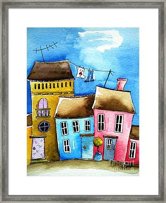 Wash Day Framed Print by Lucia Stewart