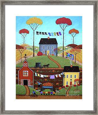 Wash Day Framed Print by Mary Charles