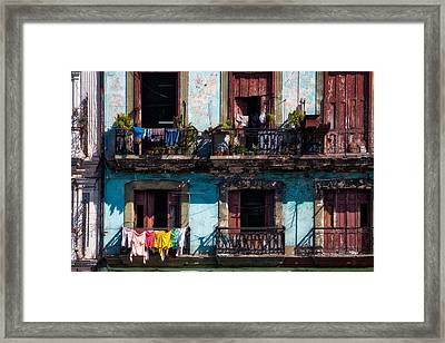 Wash Day On The Prado - Havana Framed Print by Mountain Dreams