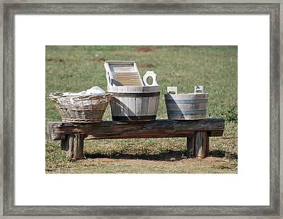Wash Day Framed Print by Teresa Blanton