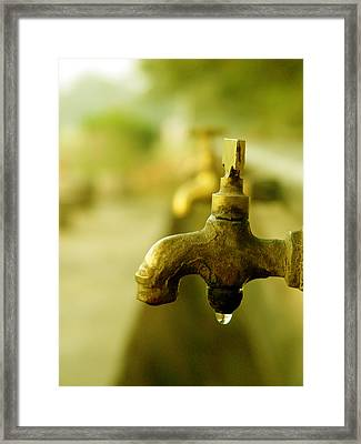 Wash It Away And Find Peace Framed Print by Murtaza Humayun Saeed
