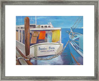 Framed Print featuring the painting Wash Out by Tony Caviston