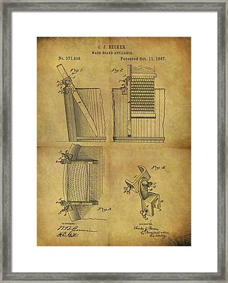 Washboard Patent Framed Print by Dan Sproul