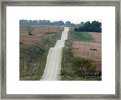 Washboard Road Framed Print by David Bearden