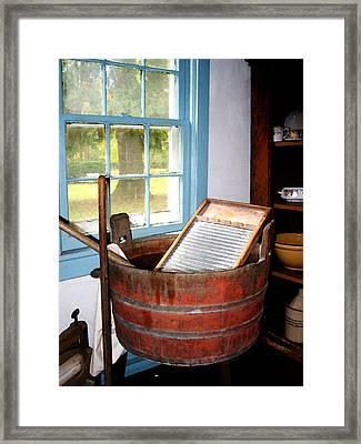 Washboard Framed Print by Susan Savad